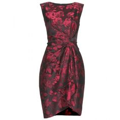 Jason Wu Wonka Print Sheath ($1,268) ❤ liked on Polyvore featuring dresses, vestidos, red, short dresses, short red cocktail dress, red mini dress, bodycon mini dress, floral bodycon dress and party dresses