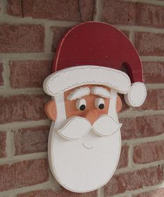 SANTA  for Christmas, wall and door hanging decor. $29.95, via Etsy.