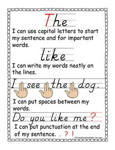 Writing Checklist for Beginning Writers FREEBIE
