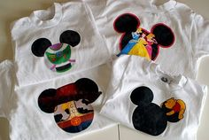 DIY Mickey Mouse Ears Shirts cute would these be for a family trip to Disneyland? Disney T-shirts, Disney 2015, Disney Love, Disney Magic, Disney Cruise, Disney Stuff, Disney Travel, Disney World Vacation, Disney Vacations