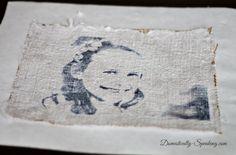 Burlap Tissue Paper Printed Photo Art Tutorial