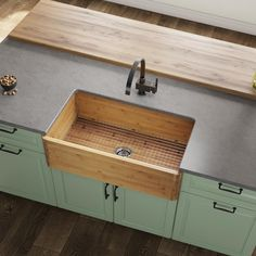 MR Direct Bamboo 33 x 18 Farmhouse/Apron Kitchen Sink MR Direct Farmhouse Aprons, Farmhouse Sink Kitchen, New Kitchen, Kitchen Decor, Kitchen Sinks, Kitchen Ideas, Kitchen Layout, Kitchen Inspiration, Kitchen Cabinets