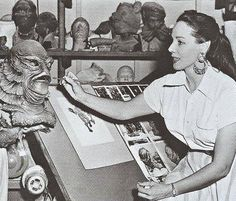 Former Disney illustrator Millicent Patrick, who designed the iconic Gill-man for CREATURE FROM THE BLACK LAGOON.