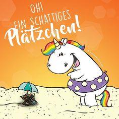 Oh ein schattiges Plätzchen!  #pummeleinhorn #sommer #sonne
