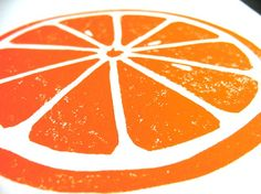 Time to do a block print study on fruit close-ups...
