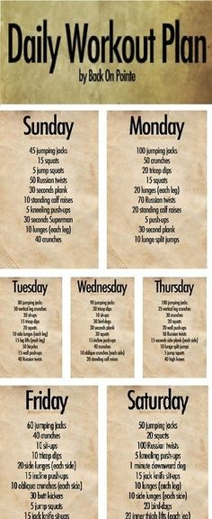 Daily Workout Plan workout