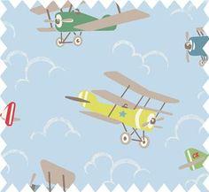 Cath Kidston Aeroplane Fabric Airplane Aviation Decor Linen Towels