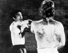 Bruce Lee in Action Against Check Norris in The Way of The Dragon.