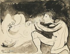 Pablo Picasso, Le joueur de flûte, 1932