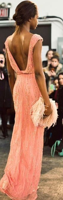 amazing coral beaded formal