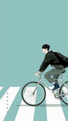 Bike Illustration, Character Illustration, Digital Illustration, Wattpad Book Covers, Anime Muslim, Boy Art, Cute Images, Book Cover Design, Cartoon Wallpaper