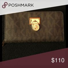 Wallet Brown and gold MK wallet Michael Kors Bags Wallets