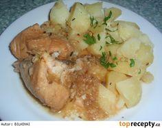 Kuřátko dušené na česneku