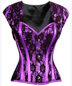 The Violet Vixen - Violet Storm Captain Corset, $111.00 (http://thevioletvixen.com/authentic-corsets/violet-storm-captain-corset/)