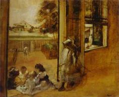 edgar degas most famous paintings | Famous Art work & Drawing by Edgar Degas -Courtyard of a House in New ...