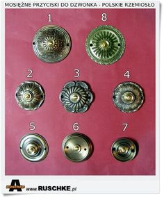 Mosiężne przyciski do dzwonków elektrycznych