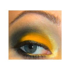 Harry Potter Hufflepuff ❤ liked on Polyvore featuring beauty products, makeup, eye makeup, eyes, harry potter, hufflepuff and beauty