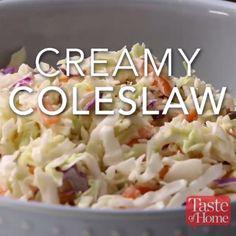 coleslaw recipe easy creamy / coleslaw recipe - coleslaw recipe easy - coleslaw recipe for pulled pork - coleslaw recipe vinegar - coleslaw recipe healthy - coleslaw recipe no mayo - coleslaw recipe easy creamy - coleslaw recipe easy healthy Coslaw Recipes, Salad Recipes, Cooking Recipes, Healthy Coleslaw Recipes, Creamy Coleslaw, Vegan Coleslaw, Coleslaw Sauce, Best Coleslaw Recipe, Coleslaw Recipe With Sour Cream