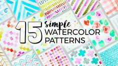 15 Simple Watercolor Patterns to Paint! | Sea Lemon