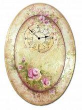 creativ art, artsypaint item, decor paint, art lifestyl, patterns, rose clock, clock pattern, roses, clocks