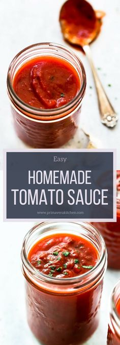 Learn How to Make Basic Tomato Sauce Recipe that you will want to put it on everything. Its very delicious and made with onions garlic olive oil tomatoes bay leaves and seasonings. Basic Tomato Sauce Recipe, Easy Tomato Sauce, Homemade Tomato Sauce, Tomato Paste Sauce, Delicious Vegan Recipes, Healthy Dinner Recipes, Healthy Snacks, Vegetarian Recipes, Cooking Recipes