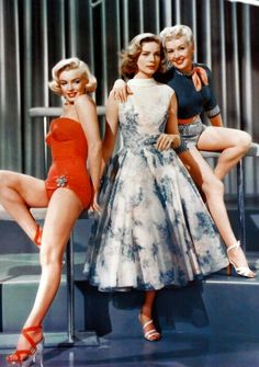 MARILYN MONROE, LAUREN BACALL & BETTY GRABLE in How to Marry a Millionaire (1953)