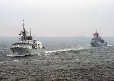 HMCS Fredericton Heads to the Mediterranean Sea Constanta Romania, Royal Canadian Navy, March Month, Training Exercises, Close Proximity, Small Boats, Black Sea, Mediterranean Sea, Warfare