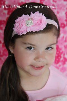Light Pink Hello Kitty Inspired Headband - Little Girls Rhinestone Kitty  Hairbow - Newborn Baby Tiara 9a47e296636