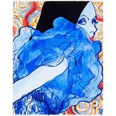 René Gruau - Lady in blue 1968