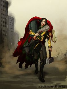 The time he was found worthy. It did not matter. Loki hauls his unconscious brother onto his back and to safety. Picking up The Hammer was an afterthought.