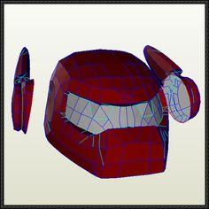Big Hero 6 - Superhero Form Baymax Helmet Free Papercraft Download - http://www.papercraftsquare.com/big-hero-6-superhero-form-baymax-helmet-free-papercraft-download.html