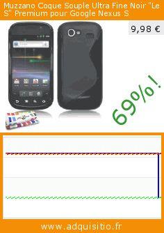 """Muzzano Coque Souple Ultra Fine Noir """"Le S"""" Premium pour Google Nexus S (Accessoire). Réduction de 69%! Prix actuel 9,98 €, l'ancien prix était de 31,79 €. https://www.adquisitio.fr/muzzano/coque-souple-ultra-fine-762"""