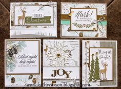 Oh Deer Christmas Cards-all products used Close To My Heart. D1696 Woodland Wishes, C1653 Hymns of Praise.