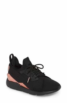 new arrivals 501ea c0c7f PUMA Muse Metal Detail Sneaker (Women) Top Shoes, Black Shoes, Converse,
