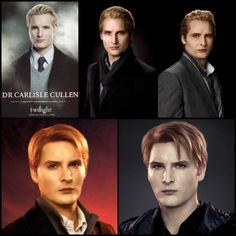 Carlisle - From Twilight to BD 2 I wish they would have kept his hair slicked back.