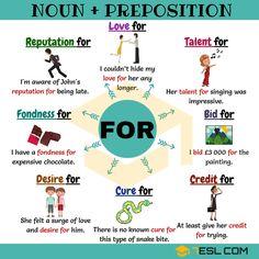 25 Noun + Preposition Combinations - the Preposition FOR