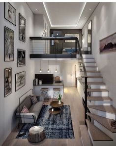 Lovely small loft apartment inspo What do you think about this interior? - - - Designed by BLOK Loft Interior Design, Loft Design, Home Room Design, Small House Design, Modern House Design, Luxury Interior, Loft Apartment Decorating, Apartment Layout, Apartment Design