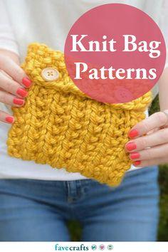 27 Knit Bag Patterns All Free Knitting, Easy Scarf Knitting Patterns, Easy Knitting Projects, Finger Knitting, Knit Bag, Knitted Bags, Bag Patterns, Arm Warmers, Crochet Handbags