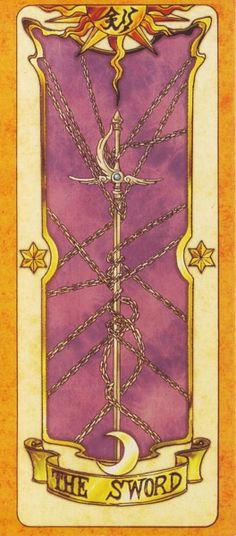 This is The Sword Clow Card from the Card Captor Sakura anime and manga series by CLAMP Cardcaptor Sakura, Syaoran, Sakura Card Captor, Disney Marvel, Sailor Moon, Clow Reed, Manga Anime, Otaku Mode, Clear Card