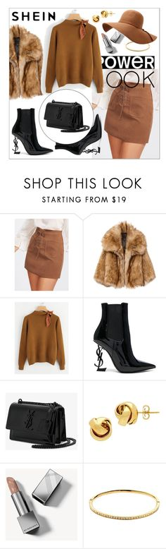 """Knotted Detail Jersey Jumper"" by sabina-220416 ❤ liked on Polyvore featuring Yves Saint Laurent, Lord & Taylor, Burberry and Melissa Odabash"