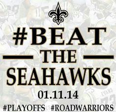 Go Saints Beat The Seahawks