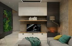 Two Sleek Apartments with Interior Glass Walls