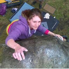 "@jodavis2015's photo: ""Terrifying top out of doom but I didn't cry or anything! #bouldering #climbing #girlswhoclimb #thisgirlcan #thisgirlcanclimb @teambmc @gearforgirls @cotswoldoutdoor #caley #yorkshiregrit"""