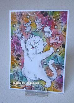 Kaart kat en muizen, met illustratie van Rick St. Dennis