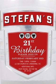 Jim Beam Birthday Digital Printable Invitation Template