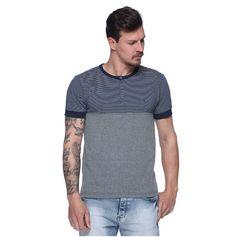 Camiseta College com Botão - Damyller
