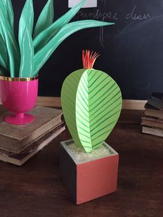 DIY Paper Plants // Paper Cactus by The House That Lars Built