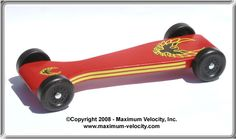 Extended Accelerator Pinewood Derby Car Design