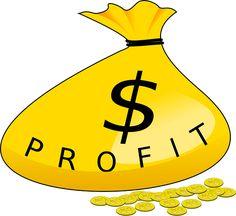 Bolsa amarilla de dinero con el signo $. Profit, ganancia. Gratis para usos comerciales / No es necesario reconocimiento.