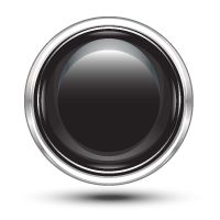 Black and Chrome Button Vector